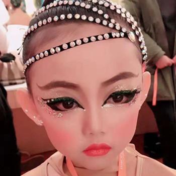 儿童拉丁舞比赛眼妆画法